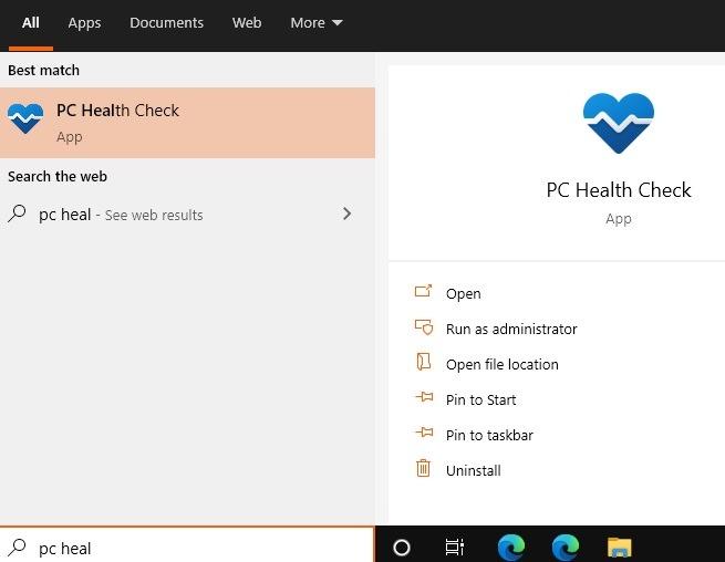 Windows11 Compatibility Pc Health Search