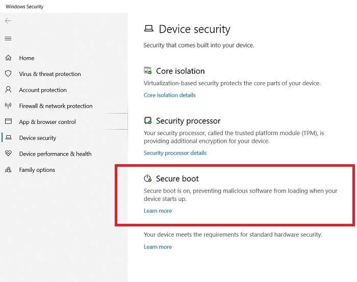 Windows11 Compatibility Secure Boot