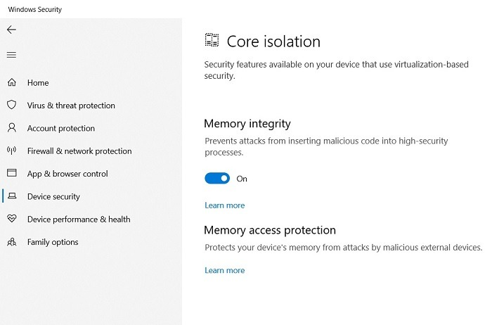 Windows11 Compatibility Vbs Memory Integrity On