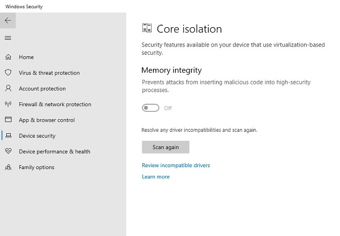 Windows11 Compatibility Vbs Memory Integrity