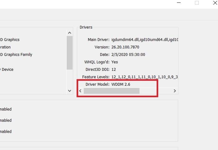Windows11 Compatibility Wddm 2