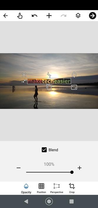 أضف Watermark Android Blend