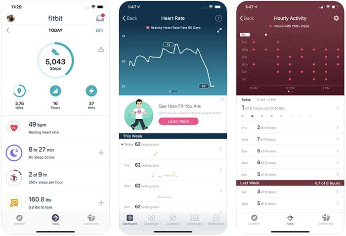 أفضل تطبيقات عداد الخطى الخطوة عداد آيفون Fitbit