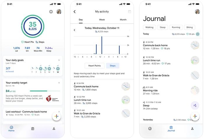 أفضل تطبيقات عداد الخطى والخطوة Iphone Google Fit