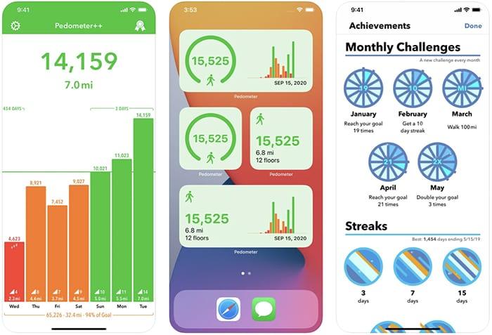 أفضل تطبيقات عداد الخطى وخطى Iphone Pedometer Plusplus
