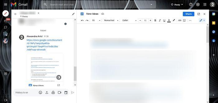 كيفية تنشيط Google Chat Gmail Desktop Drive Intergration