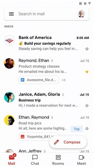 صندوق بريد Gmail Bimi