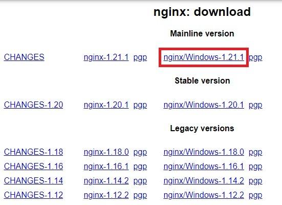 Nginx Windows Mainline Version Download