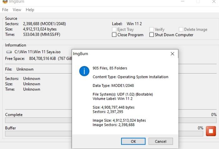 تثبيت Windows11 مُسَرَّبًا إتمام عملية النسخ