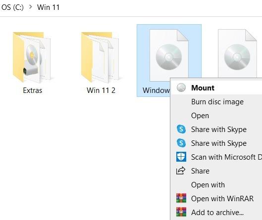 Windows11 التثبيت المتسرب Windows10 Mount