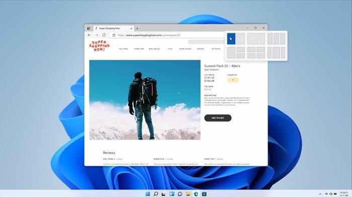 المفاجئة تخطيطات Windows11