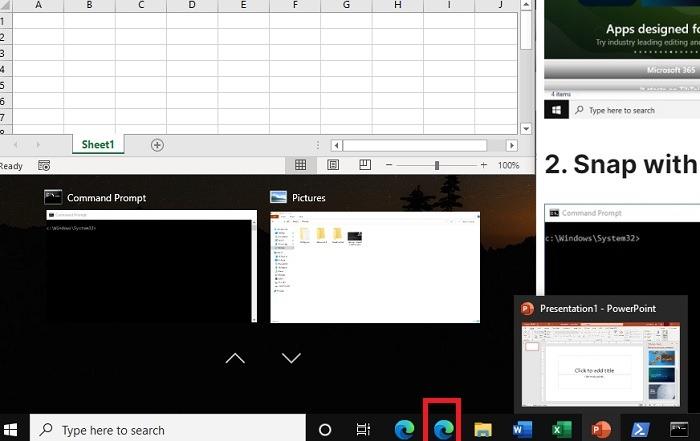 Windows11 التقط Windows السهم الأيمن