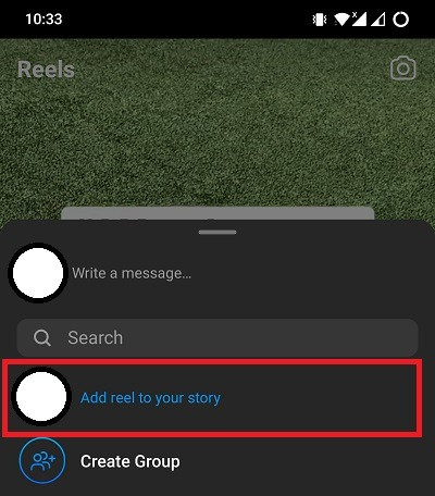 Add Reel To Story