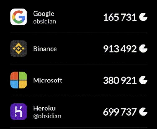 The Obsidian 2FA app.