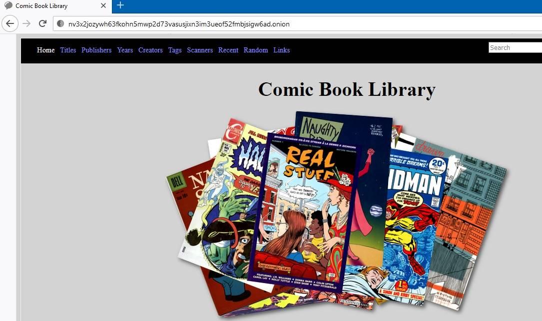 مكتبة الكتب الهزلية على الإنترنت المظلم Google Onion