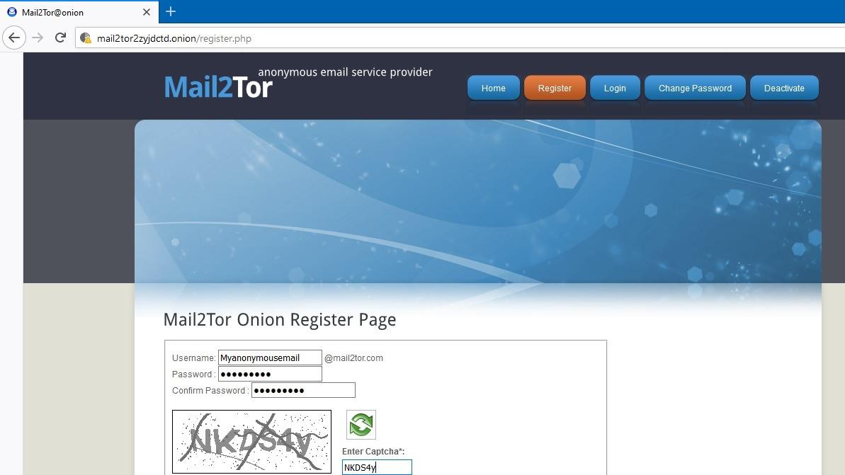 Dark Web Google Mail2tor