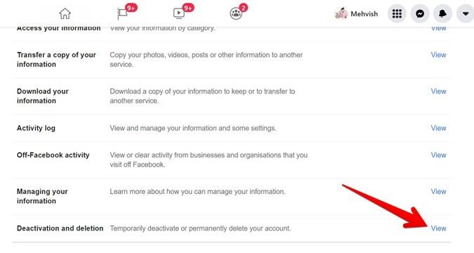 Facebook Account Delete Or Deactivate