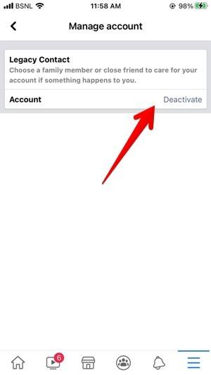 Facebook Iphone Deactivate