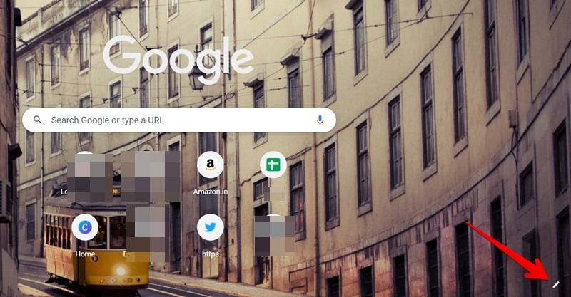 Google Chrome Open Home Page Customization