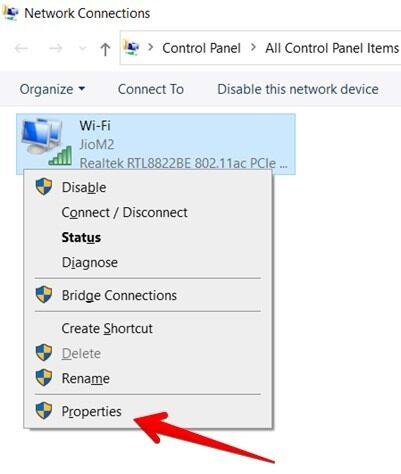 Wi Fi Adapter Properties