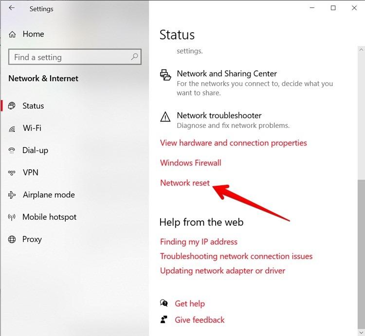 Wi Fi Network Reset