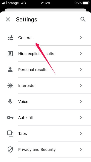 How To Change Google Background Ios General Settings
