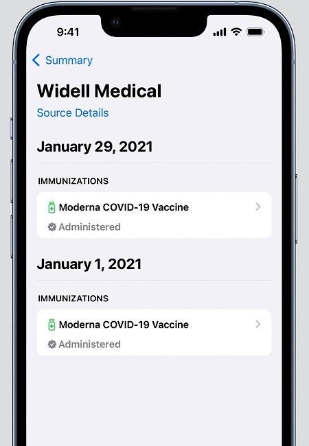 Ios 15.1 Vaccination Cards Health App